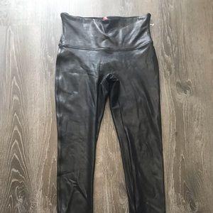 NWOT Spanx Faux Leather Leggings size large